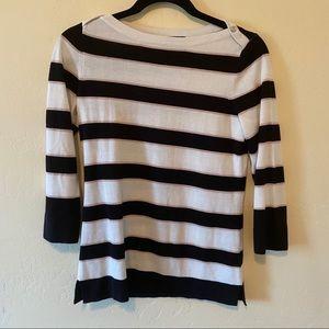 Tommy Hilfiger Size XS 3/4 Sleeve Striped Sweater